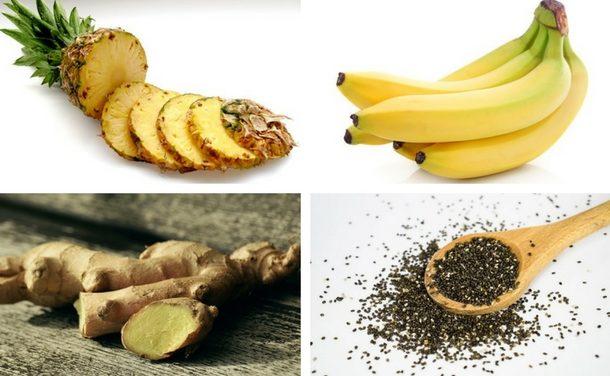 Smoothie banán ananas