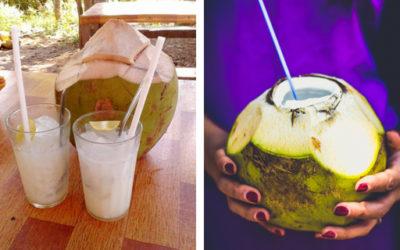 Top 3 nejlepší ovocné drinky z kokosové vody